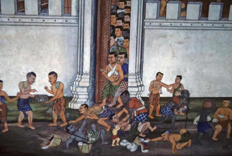 """<img typeof=""""foaf:Image"""" src=""""http://statelibrarync.org/learnnc/sites/default/files/images/thai_rama_115.jpg"""" width=""""1024"""" height=""""690"""" alt=""""People flee Ravana's burning city through gate in palace wall"""" title=""""People flee Ravana's burning city through gate in palace wall"""" />"""