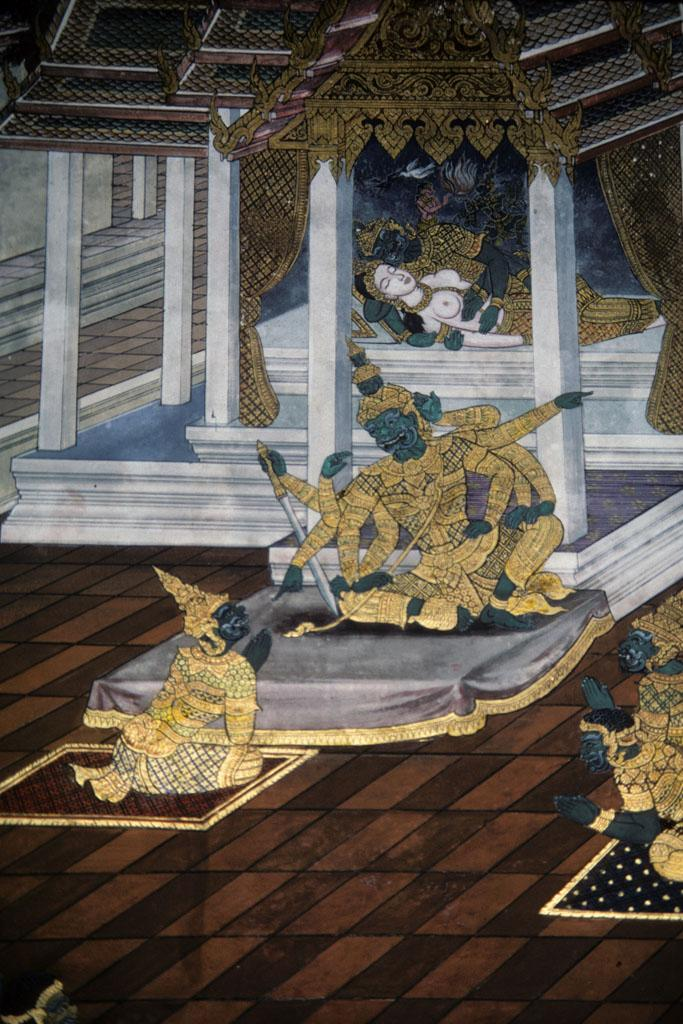 "<img typeof=""foaf:Image"" src=""http://statelibrarync.org/learnnc/sites/default/files/images/thai_rama_116.jpg"" width=""683"" height=""1024"" alt=""Ten-armed Ravana gets his dream interpreted by his brother"" title=""Ten-armed Ravana gets his dream interpreted by his brother"" />"