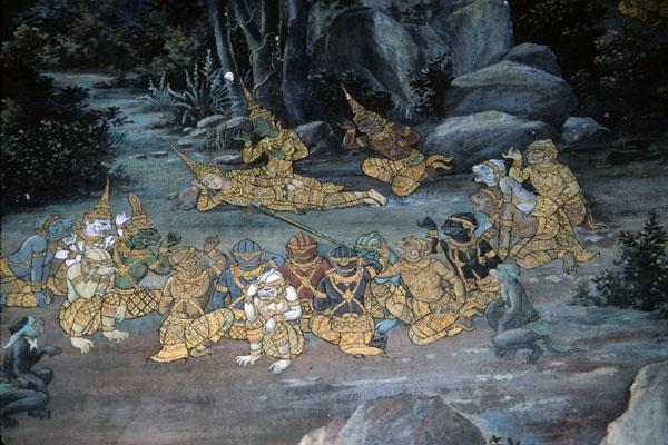 """<img typeof=""""foaf:Image"""" src=""""http://statelibrarync.org/learnnc/sites/default/files/images/thai_rama_148.jpg"""" width=""""600"""" height=""""400"""" alt=""""Monkey soldiers gather around wounded Laksman in forest"""" title=""""Monkey soldiers gather around wounded Laksman in forest"""" />"""