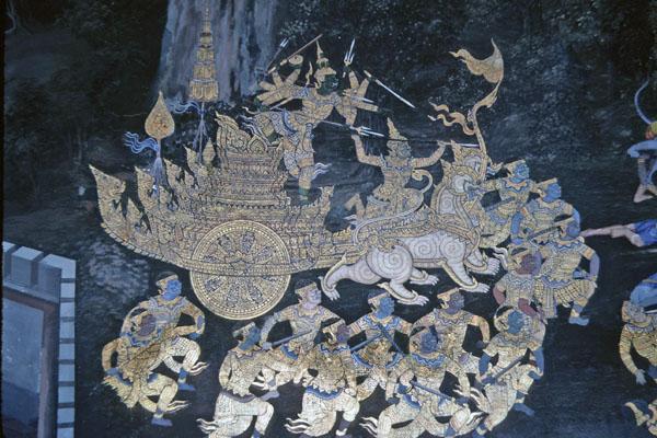 "<img typeof=""foaf:Image"" src=""http://statelibrarync.org/learnnc/sites/default/files/images/thai_rama_165.jpg"" width=""600"" height=""400"" alt=""Ravana arrives on golden chariot to fight"" title=""Ravana arrives on golden chariot to fight"" />"
