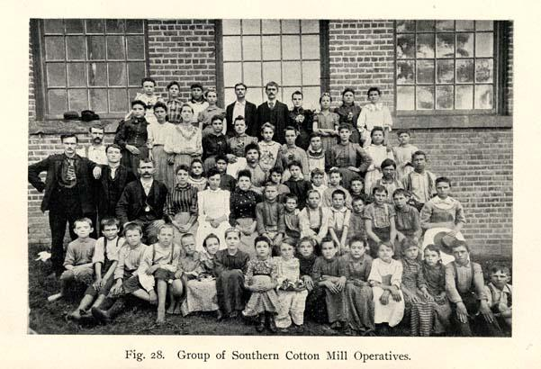 Cotton mill workers, c. 1899