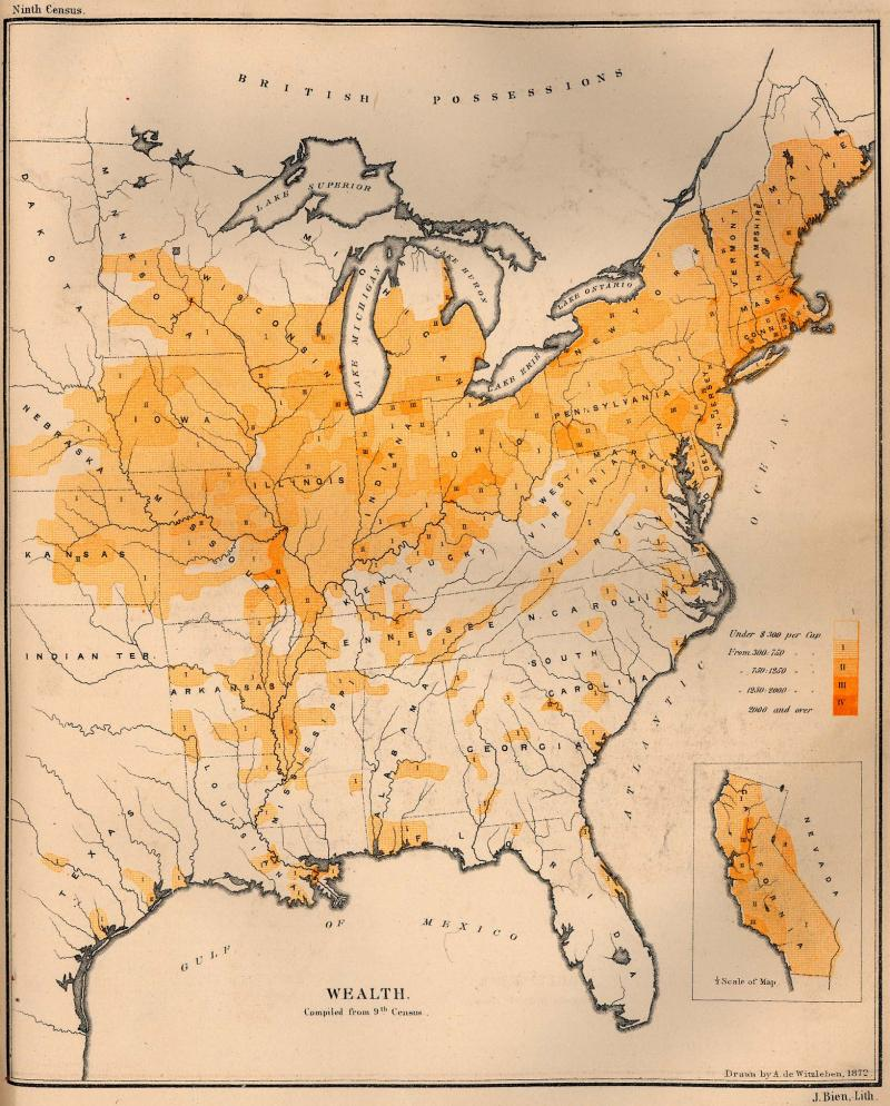 Wealth in the United States 1870 NCpedia