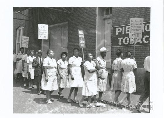 Protest at Piedmont Leaf Tobacco Company, 1946