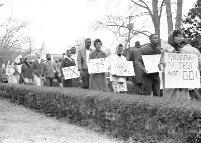 Voting rights demonstration