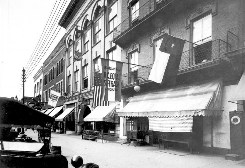 Headquarters of the North Carolina Equal Suffrage Association