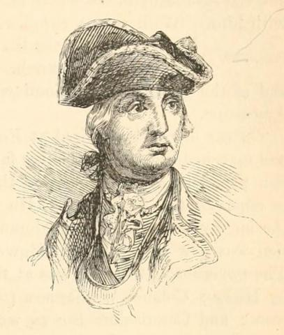 Portrait of General Robert Howe, from Benson J. Lossing's The Pictorial Field-book of The Revolution, published 1852.