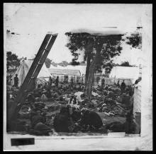 Civil War field hospital
