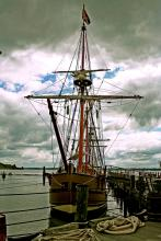 Sailing ship in Jamestown
