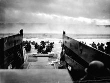 U.S. troops land on Omaha Beach