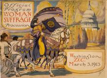 Official program, Woman suffrage procession, 1913