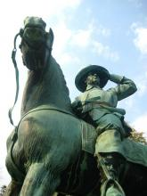 Equestrian statue from King William's War and Queen Anne's War