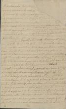 """Handwritten image of """"A Petition to protect families of loyalists"""""""