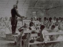 A slave preaching