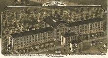 Dix Hospital, Raleigh (labeled 'Lunatic Asylum')