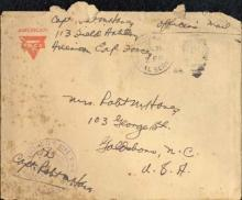 Envelope from a World War I letter