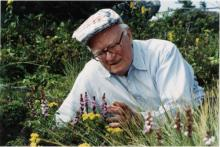 Hugh Morton with endangered wildflowers