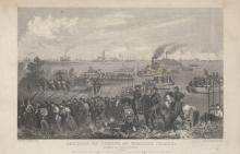 Landing of Troops on Roanoke Island,  Burnside Expedition