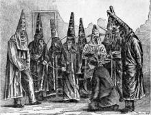 Ku Klux Klan costumes in North Carolina, 1870
