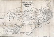 Map of North Carolina railroads, 1854