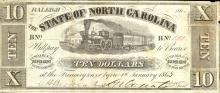 North Carolina 10-dollar note, 1862