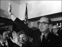 Jesse Helms celebrates his victory, 1972