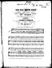 The Old North State (sheet music)