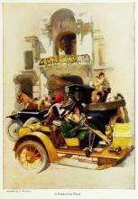 A woman at the wheel