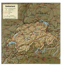 Switzerland (relief map)
