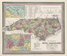 1853 map of North Carolina