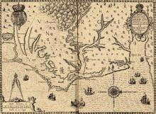 The Carte of All the Coast of Virginia