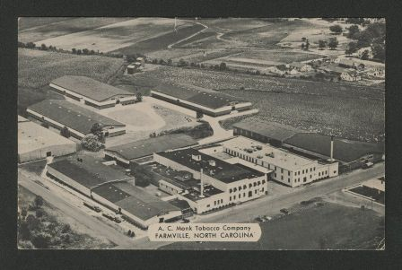 A.C. Monk Tobacco Company, Farmville, North Carolina, c. 1900-1950, id: 318.2.c.351. Available from East Carolina University Libraries Digital Collections.