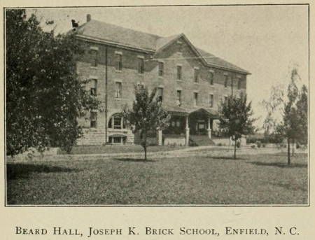 Beard building, Joseph K. Brick School, from A Crusade of Brotherhood, A History of the American Missionary Association, 1909.