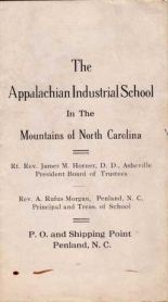 1914 Promotional Brochure. Click to see entire brochure. Courtesy of Penland School of Crafts.