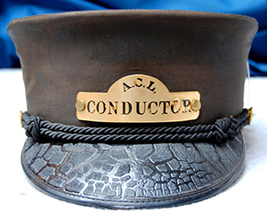 Atlantic Coast Line Railroad conductor's hat, circa 1950. Image from North Carolina Historic Sites.