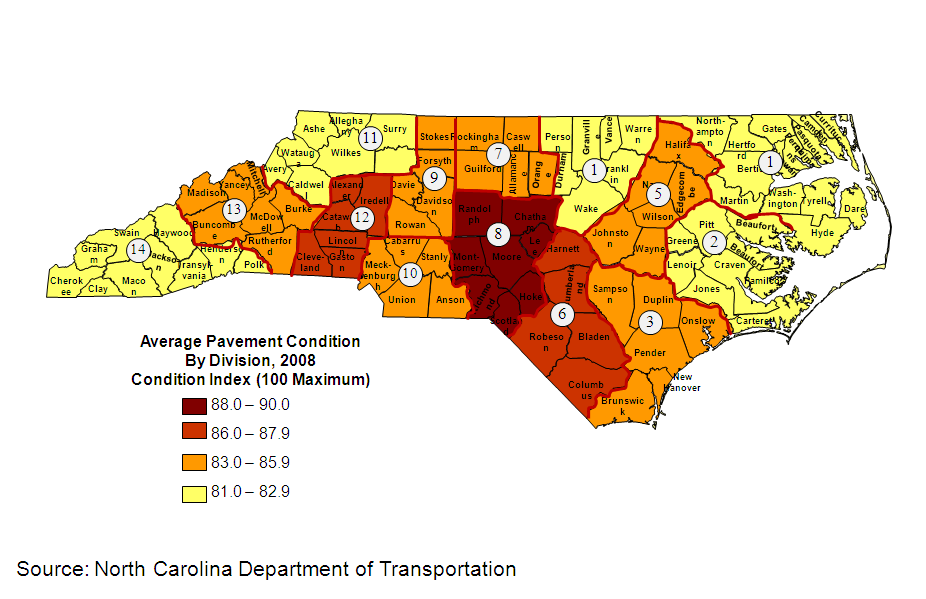 Transportation Highway System Conditions From Nc Atlas Revisited