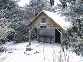 A shelter on the Appalachian Trail in the backcountry. Image from Flickr user Doug Bradley.