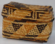 Rivercane Lidded basket. Image courtesy of Wester Carolina University.
