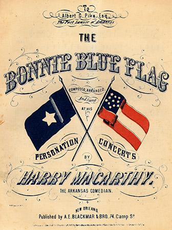 Sheet music for the song 'The Bonnie Blue Flag' by Harry Macarthy, 1861. Image from the Duke University Libraries Digital Collections.