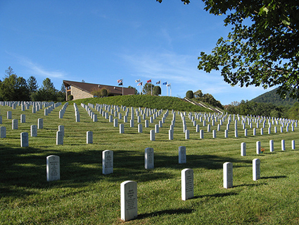 The Western Carolina State Veterans Cemetery in Black Mountain, N.C., 2007. Image from Flickr user Natalie Maynor.