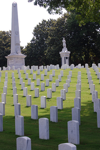 The Salisbury National Cemetery, 2012. Image from Flickr user Donald Lee Pardue.