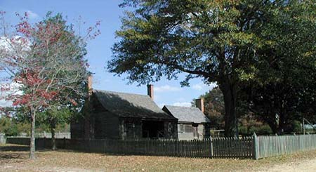 The Charles B. Aycock Birthplace home and kitchen. Image from NC ECHO.