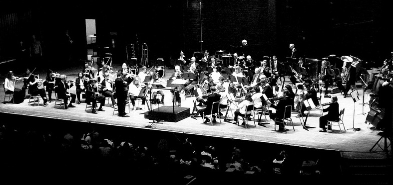 The North Carolina Symphony performing at the Crown Center Theatre in Fayetteville, North Carolina, March 21, 2012. Image from Flickr user Gerry Dincher.