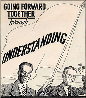 Undated artwork for a CIC pamphlet, circa 1938-1949. Image from The Southern Historical Collection, Louis Round Wilson Special Collections Library.