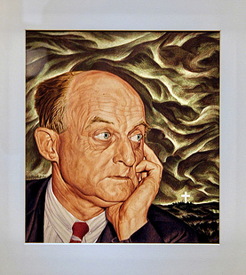 Portrait of Reinhold Niebuhr by Ernest Hamlin Baker, 1948. Image from Flickr user cliff1066™.