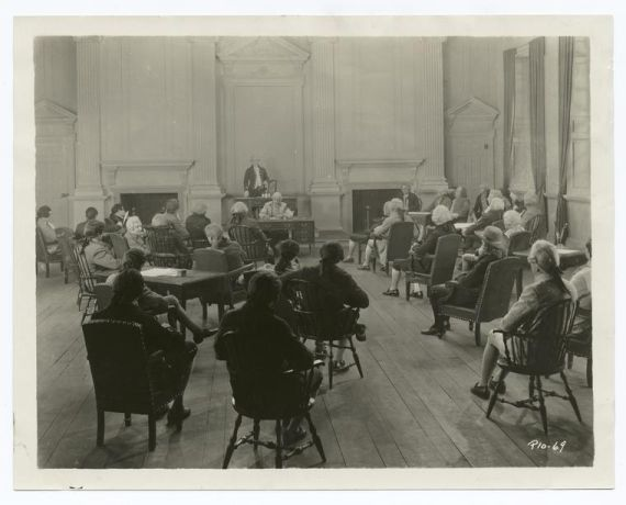 """A Session of the Second Continental Congress"". Courtesy of the New York Public Library Digital Gallery, Image ID: 93368 ."