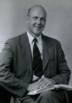 Photo of Dr. Christopher Crittenden, Director of the State Dept. Of Archives & History, Summer, 1952. Studio Portrait.