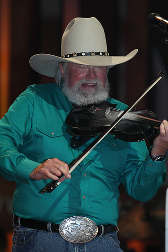 Charlie Daniels performing at the Grand Old Opry, Nashville, Tenn., July 21, 2009. Image from Flickr user tncountryfan.