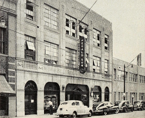 Durham Herald-Sun building, 1951. Image from Archive.org.