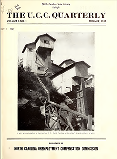 Cover of the first issue The U.C.C. Quarterly, 1942. Image from the North Carolina Digital Collections.