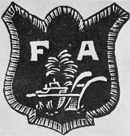 Drawing of a Farmers' Alliance badge. Courtesy of the State Archives of North Carolina.